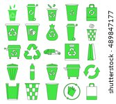 recycle waste management trash... | Shutterstock .eps vector #489847177