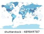 high detailed political world...   Shutterstock .eps vector #489849787