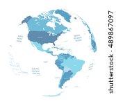 earth globe  | Shutterstock .eps vector #489867097