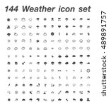144 Weather Icons Set