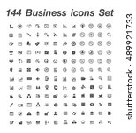 144  Business Icons Set