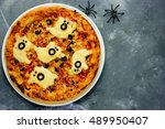 Halloween Spooky Ghost Pizza  ...
