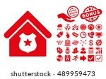 police office pictograph with... | Shutterstock .eps vector #489959473