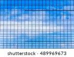 windows of business building  | Shutterstock . vector #489969673