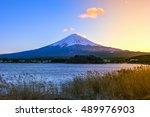 japan  fuji mountain ...   Shutterstock . vector #489976903