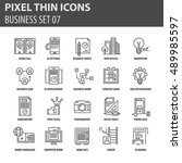 thin line flat icons pack for...   Shutterstock .eps vector #489985597