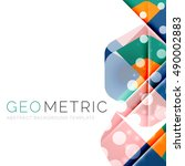 shiny geometric vector abstract ... | Shutterstock .eps vector #490002883