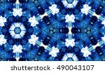 abstract hand painted tie dye... | Shutterstock . vector #490043107