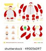vector illustration santa claus ... | Shutterstock .eps vector #490056097