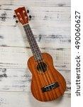 Small photo of Hawaiian ukulele guitar with four strings