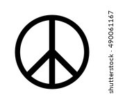 peace icon | Shutterstock .eps vector #490061167