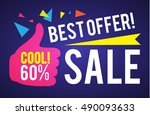 sale banner template. best... | Shutterstock .eps vector #490093633