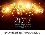 happy new 2017 year. seasons... | Shutterstock .eps vector #490095277