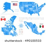 maps of canada  united states... | Shutterstock .eps vector #490100533