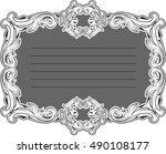 greeting art nice frame is on... | Shutterstock .eps vector #490108177