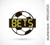 sport logo betting soccer ball... | Shutterstock .eps vector #490110523