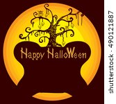 halloween background  | Shutterstock .eps vector #490121887