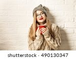 Romantic Winter Hipster Girl I...