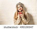 Romantic Winter Hipster Girl I...