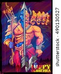 illustration of lord rama and... | Shutterstock .eps vector #490130527