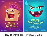 halloween illustration vampire... | Shutterstock .eps vector #490137253