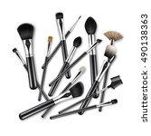 vector set of black clean... | Shutterstock .eps vector #490138363