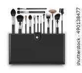 vector set of black clean... | Shutterstock .eps vector #490138477