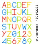 english font typeface capital...   Shutterstock .eps vector #490142233