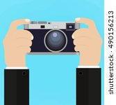 flat illustration of retro...   Shutterstock .eps vector #490156213