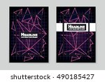 abstract vector layout... | Shutterstock .eps vector #490185427