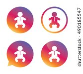 baby infant sign icon. toddler...   Shutterstock .eps vector #490185547