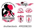 Set Logo Of Dancing Couple....