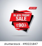 black friday sale banner | Shutterstock .eps vector #490221847