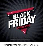 black friday sale banner   Shutterstock .eps vector #490221913