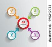 infographic modern marketing... | Shutterstock .eps vector #490240753