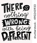 there is nothing wrong with... | Shutterstock .eps vector #490243933