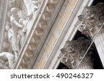 detail of the new york stock...   Shutterstock . vector #490246327