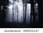 scary halloween forest | Shutterstock . vector #490251127