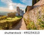 famous basilica of st. francis... | Shutterstock . vector #490254313