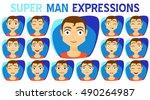 cartoon man with different... | Shutterstock .eps vector #490264987