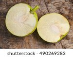 Slices Of Uncooked Breadfruit