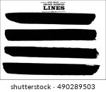set of grunge lines. isolated... | Shutterstock .eps vector #490289503