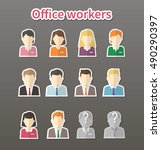 avatar flat design icons. | Shutterstock .eps vector #490290397