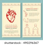 cardiology medical cover design ... | Shutterstock .eps vector #490296367