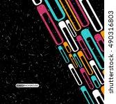retro grunge background with...   Shutterstock .eps vector #490316803