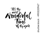 it's the most wonderful time of ... | Shutterstock .eps vector #490320967