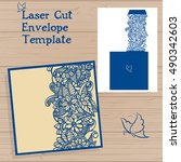 lazercut vector wedding... | Shutterstock .eps vector #490342603