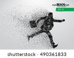 business man silhouette.... | Shutterstock .eps vector #490361833