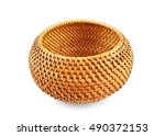 Round Wicker Box For Clothes...