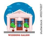 wedding salon for marriage... | Shutterstock .eps vector #490374307